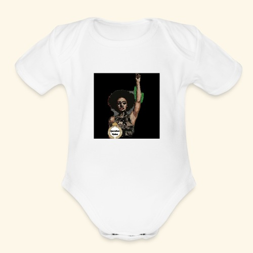 QueendomNation Made with PosterMyWall - Organic Short Sleeve Baby Bodysuit