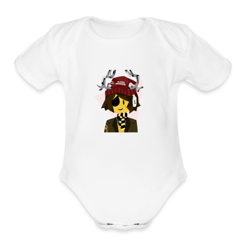 Low Poly Character - Organic Short Sleeve Baby Bodysuit