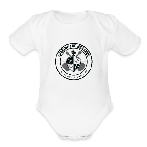 Looking For Heather - Crest Logo - Organic Short Sleeve Baby Bodysuit