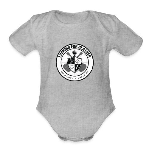 Looking For Heather - Crest Logo - Organic Short Sleeve Baby Bodysuit