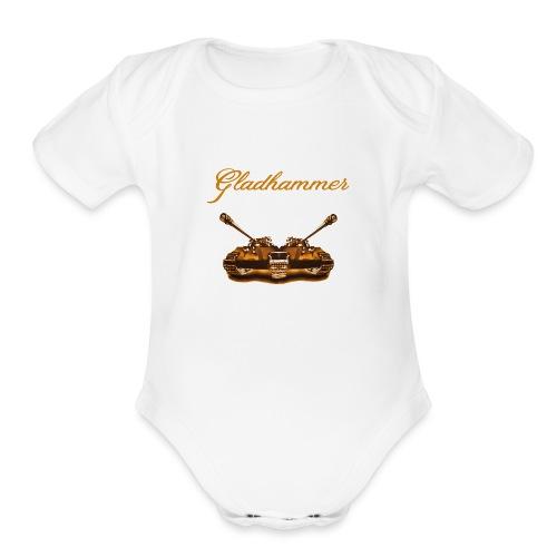 Gladhammer (Gold Tank) - Organic Short Sleeve Baby Bodysuit