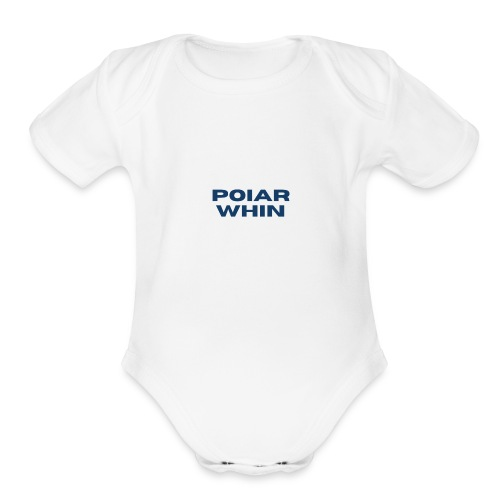 PoIarwhin Updated - Organic Short Sleeve Baby Bodysuit