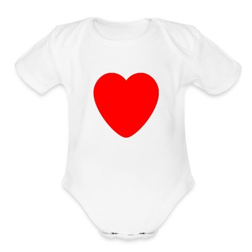 Red heart Care - Organic Short Sleeve Baby Bodysuit