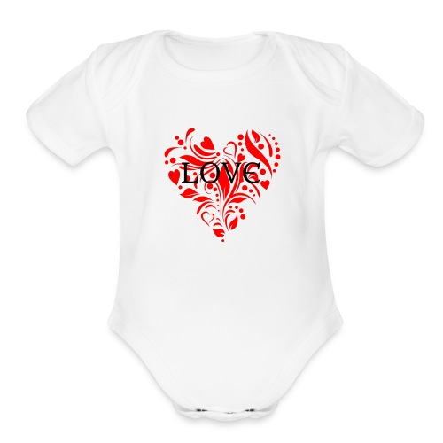 loveheArt - Organic Short Sleeve Baby Bodysuit