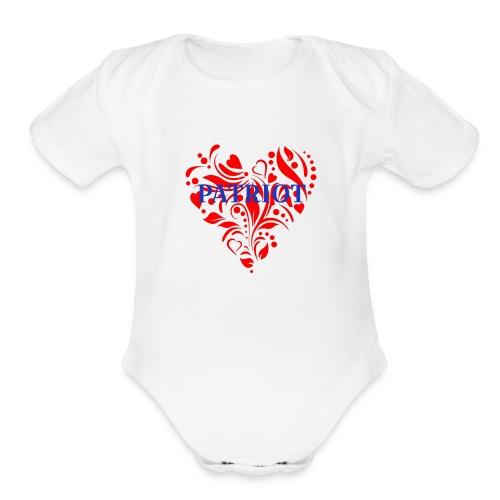 PATRIOT - Organic Short Sleeve Baby Bodysuit