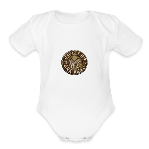 NYC Token - Organic Short Sleeve Baby Bodysuit