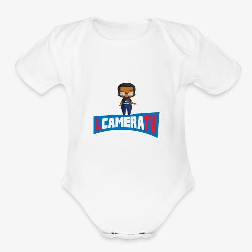 Chibi LCameraTV - Organic Short Sleeve Baby Bodysuit