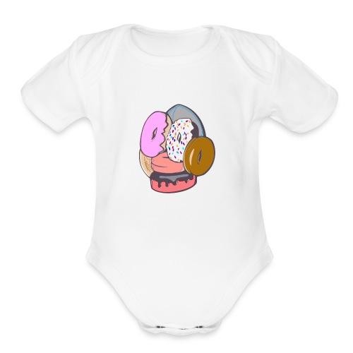 Doughnut Face - Organic Short Sleeve Baby Bodysuit
