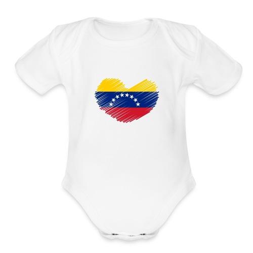 Venezuela - Organic Short Sleeve Baby Bodysuit