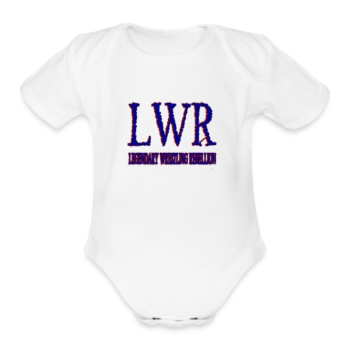 LWR RED AND BLUE LOGO - Organic Short Sleeve Baby Bodysuit
