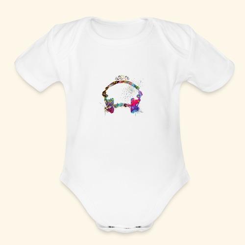 Boston skyline - Organic Short Sleeve Baby Bodysuit