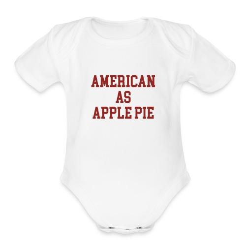 American as Apple Pie - Organic Short Sleeve Baby Bodysuit