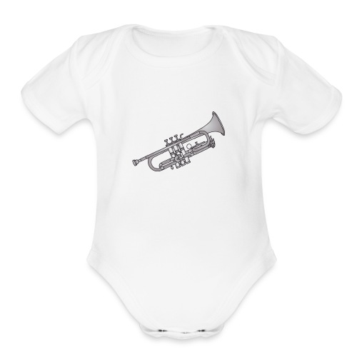 Trumpet brass instrument - Organic Short Sleeve Baby Bodysuit
