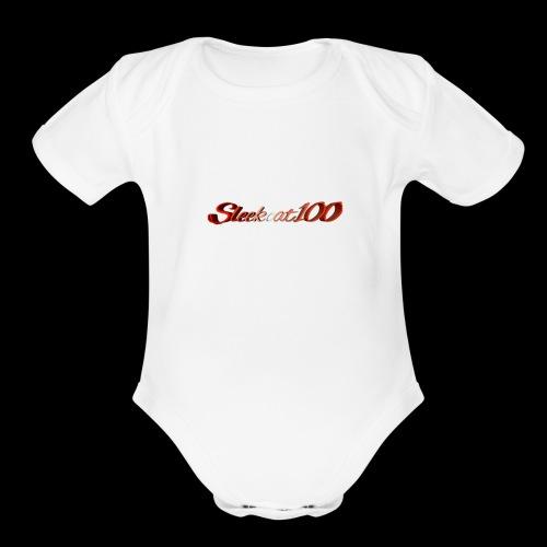 The Sleekcat100 - Organic Short Sleeve Baby Bodysuit