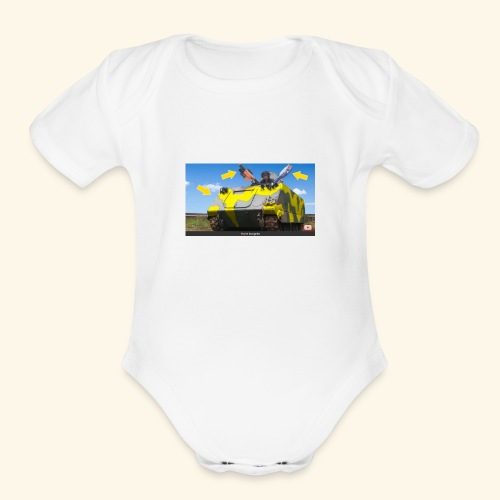 Tank Demolisher - Organic Short Sleeve Baby Bodysuit