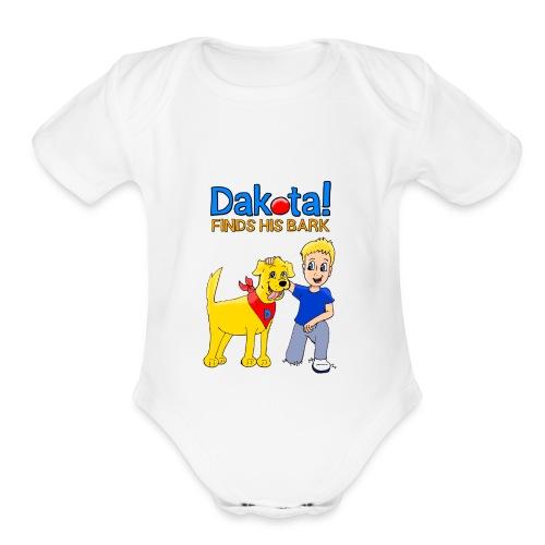 Dakota! Finds His Bark Toddler and Babies - Organic Short Sleeve Baby Bodysuit