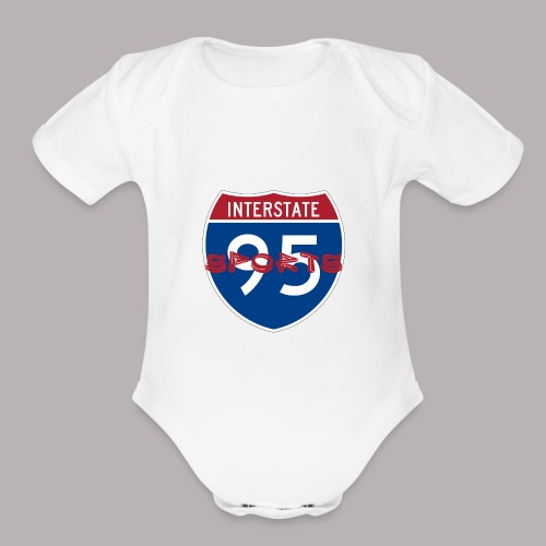 I-95 Sports Podcast Logo - Organic Short Sleeve Baby Bodysuit