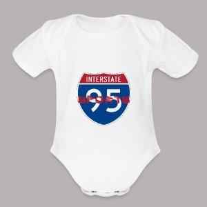 I-95 Sports Podcast Logo - Short Sleeve Baby Bodysuit