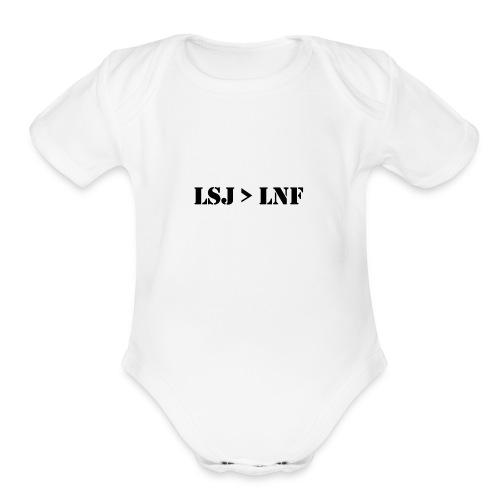 LSJ - Organic Short Sleeve Baby Bodysuit