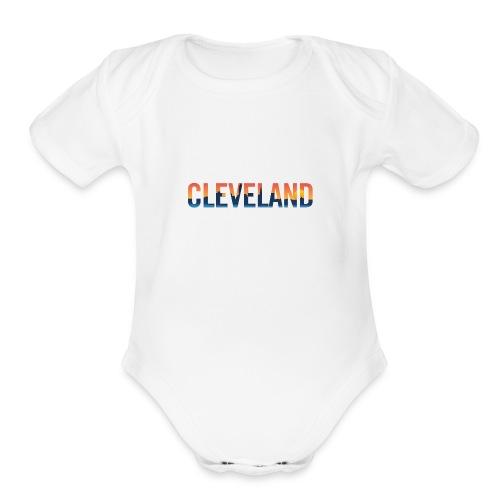 Cleveland Ohio Pride Illustration - Organic Short Sleeve Baby Bodysuit