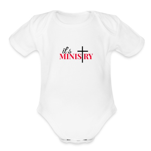 it's MINISTRY - Organic Short Sleeve Baby Bodysuit