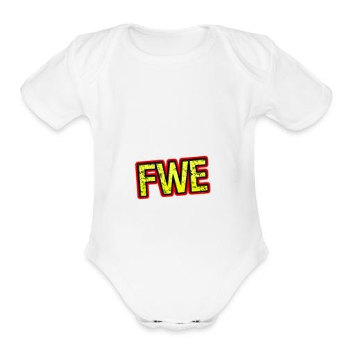 FWE Wrestling Logo - Organic Short Sleeve Baby Bodysuit