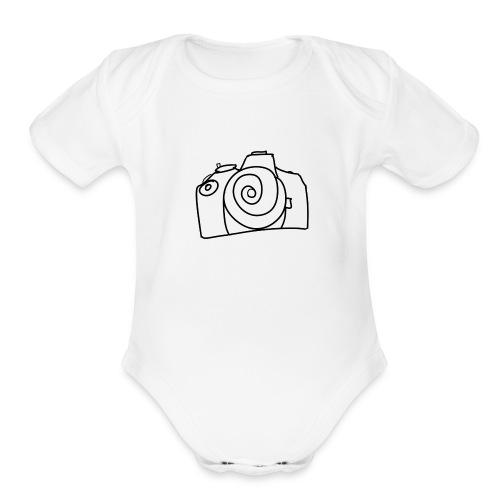 spiral camera - Organic Short Sleeve Baby Bodysuit