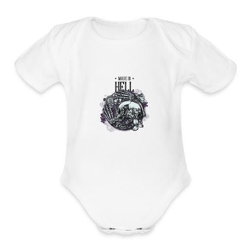 Made in HELL - Organic Short Sleeve Baby Bodysuit