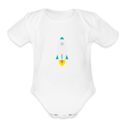 rocket - Organic Short Sleeve Baby Bodysuit