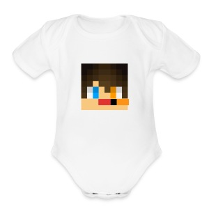 my skin face - Short Sleeve Baby Bodysuit