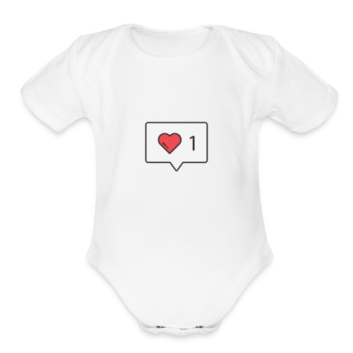 1 love - Organic Short Sleeve Baby Bodysuit