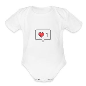 1 love - Short Sleeve Baby Bodysuit