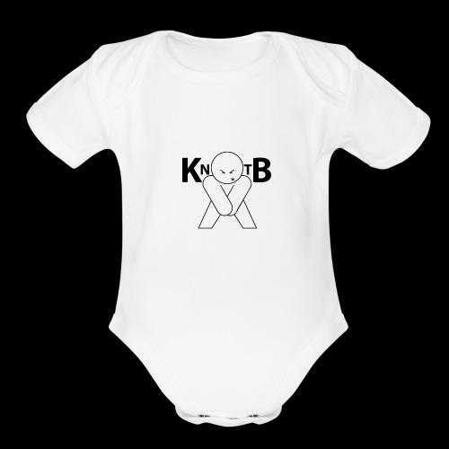 KickNtheBalls Logo 1 - Organic Short Sleeve Baby Bodysuit