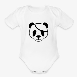 Panda - Short Sleeve Baby Bodysuit