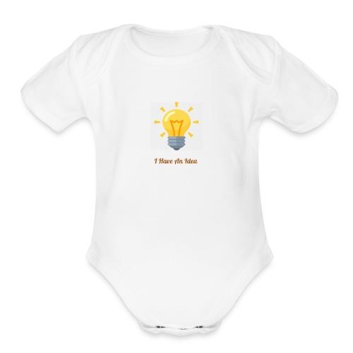 Idea Bulb - Organic Short Sleeve Baby Bodysuit