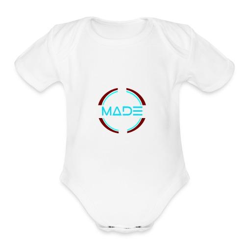 MADE - Organic Short Sleeve Baby Bodysuit