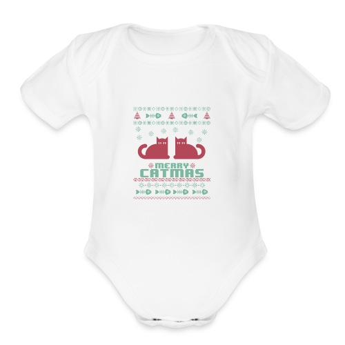 Meeowee Christmas Ugly T-Shirt - Organic Short Sleeve Baby Bodysuit