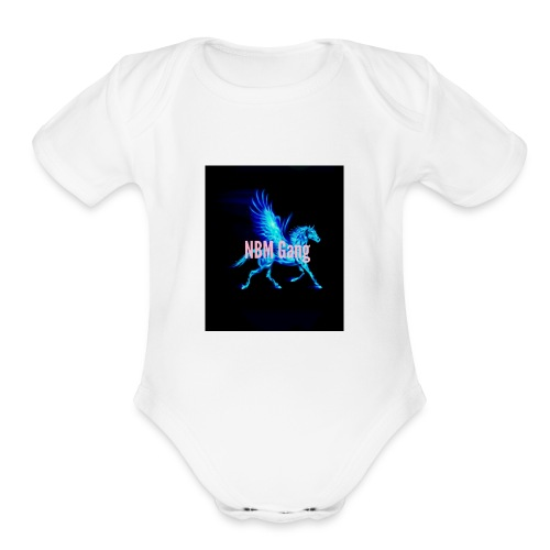 Blue Mustang iphone case (NBM Gang) - Organic Short Sleeve Baby Bodysuit