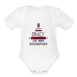 SCORPIO - Short Sleeve Baby Bodysuit