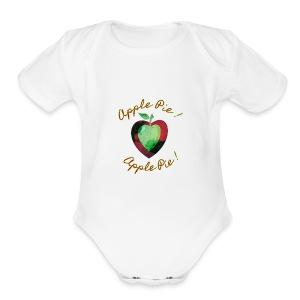 Apple Pie! I Heart Apple Pie! - Short Sleeve Baby Bodysuit