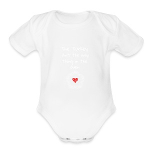 Baby Pregnancy Announcement and Thanksgiving Shir - Short Sleeve Baby Bodysuit
