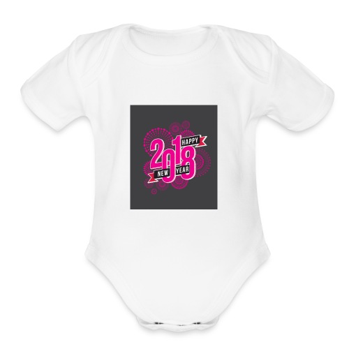 2018 New year Products - Organic Short Sleeve Baby Bodysuit