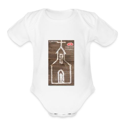 God loves everyone - Organic Short Sleeve Baby Bodysuit