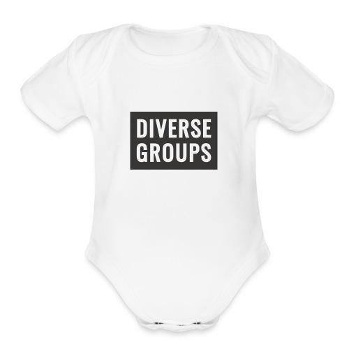 DG Logo black - Organic Short Sleeve Baby Bodysuit