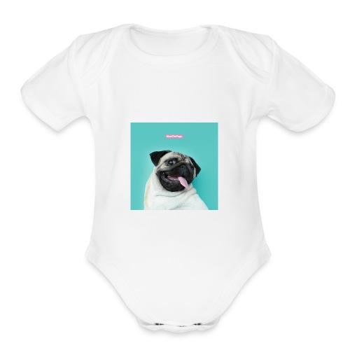 The Pug - Organic Short Sleeve Baby Bodysuit