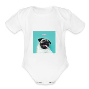 The Pug - Short Sleeve Baby Bodysuit