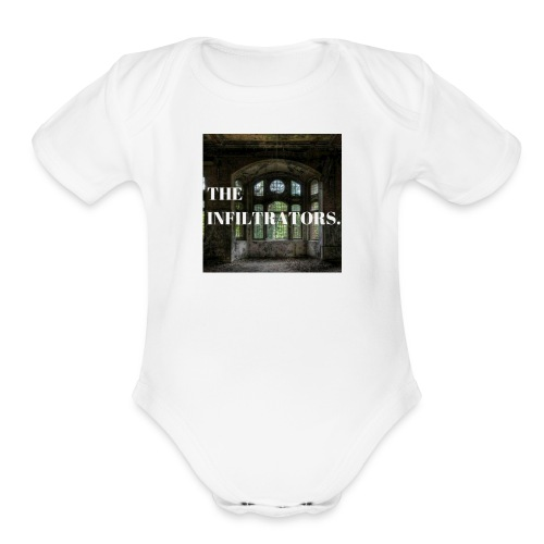 The Infiltrators Main Logo - Organic Short Sleeve Baby Bodysuit