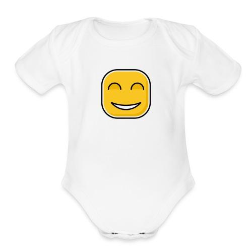 Happy day! - Organic Short Sleeve Baby Bodysuit