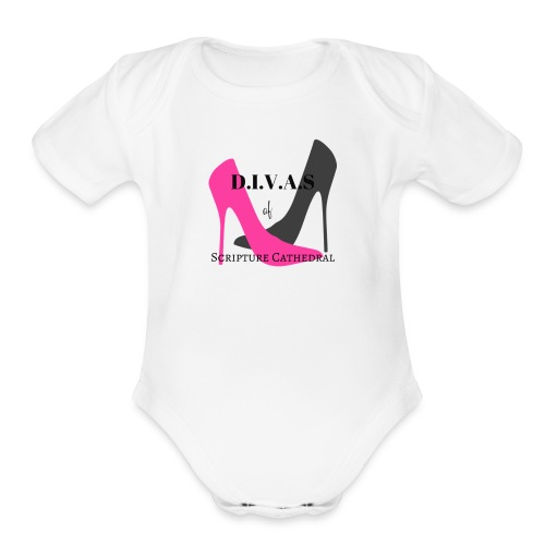 Divinely Inspired Victorious and Serving - Organic Short Sleeve Baby Bodysuit