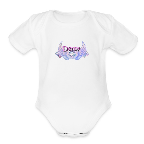 Derpy Main Merch - Organic Short Sleeve Baby Bodysuit